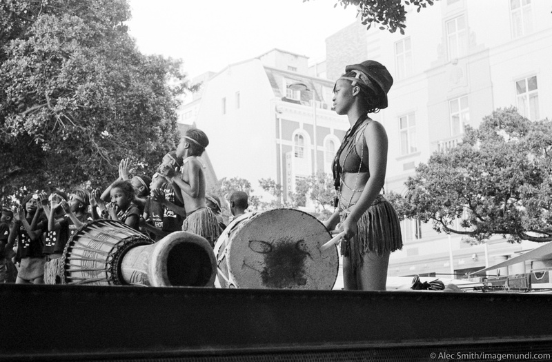 Drummers on Greenmarket Square, Cape Town