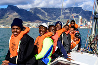 www.imagemundi.com @royalcapeyachtclub Youth Regatta spectators from the Lawhill academy in Simonstown